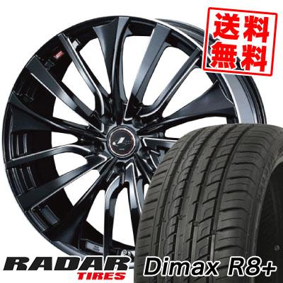 215/45R18 93Y XL RADAR レーダー DimaxR8+ ディーマックス アールエイト プラス weds LEONIS VT ウエッズ レオニス VT サマータイヤホイール4本セット