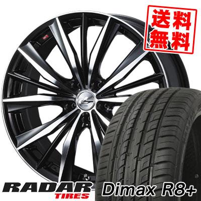 19インチ RADAR レーダー Dimax R8+ 2020 新作 ディーマックス アールエイト プラス 235 40 19 235-40-19 weds サマーホイールセット XL 96Y LEONIS 高い素材 VX 40R19 ウエッズ サマータイヤホイール4本セット レオニス