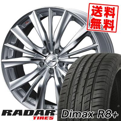 19インチ RADAR レーダー Dimax 格安 価格でご提供いたします R8+ ディーマックス アールエイト プラス 235 40 19 VX 40R19 サマータイヤホイール4本セット LEONIS 235-40-19 96Y 送料0円 ウエッズ weds サマーホイールセット レオニス XL