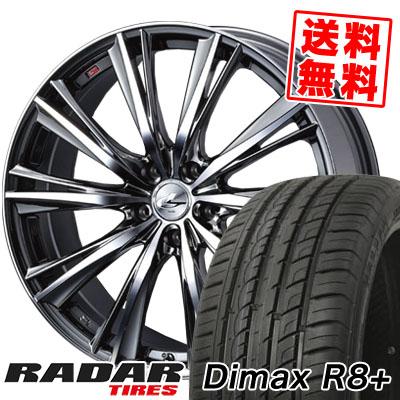 215/45R18 93Y XL RADAR レーダー DimaxR8+ ディーマックス アールエイト プラス weds LEONIS WX ウエッズ レオニス WX サマータイヤホイール4本セット【取付対象】