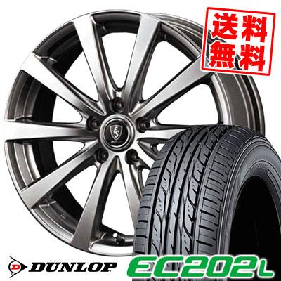 205/65R15 94S DUNLOP ダンロップ EC202L Euro Speed G10 ユーロスピード G10 サマータイヤホイール4本セット【低燃費 エコタイヤ】