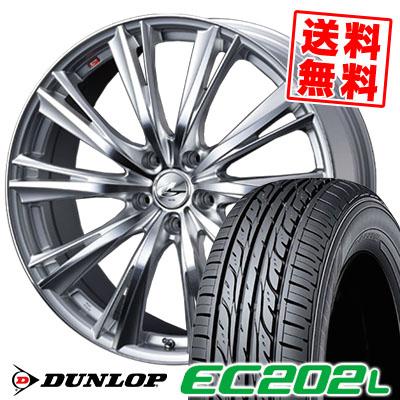 215/60R16 95H DUNLOP ダンロップ EC202L weds LEONIS WX ウエッズ レオニス WX サマータイヤホイール4本セット【低燃費 エコタイヤ】