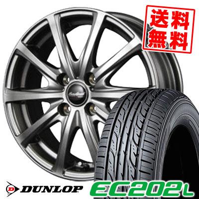 185/65R15 88S DUNLOP ダンロップ EC202L EC202L Euro Speed V25 ユーロスピード V25 サマータイヤホイール4本セット