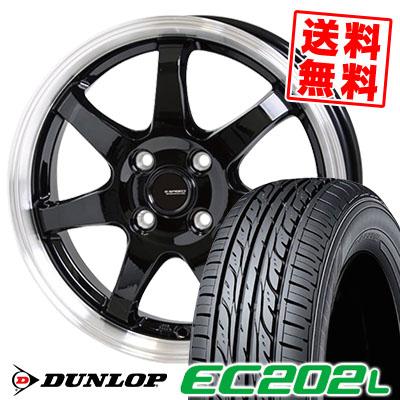 185/60R15 84H DUNLOP ダンロップ EC202L EC202L G.speed P-03 ジースピード P-03 サマータイヤホイール4本セット