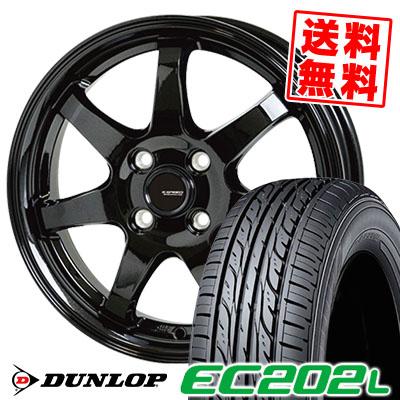 145/80R13 75S DUNLOP ダンロップ EC202L EC202L G.speed G-03 Gスピード G-03 サマータイヤホイール4本セット