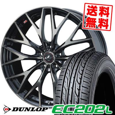 205/55R16 91V DUNLOP ダンロップ EC202L EC202L weds LEONIS MX ウェッズ レオニス MX サマータイヤホイール4本セット