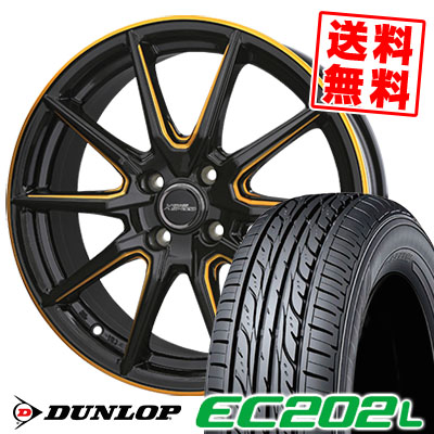 175/60R16 82H DUNLOP ダンロップ EC202L CROSS SPEED PREMIUM RS10 クロススピード プレミアム RS10 サマータイヤホイール4本セット