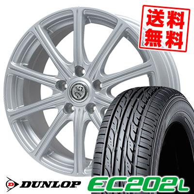 205/65R15 94S DUNLOP ダンロップ EC202L EC202L TRG-SS10 TRG SS10 サマータイヤホイール4本セット