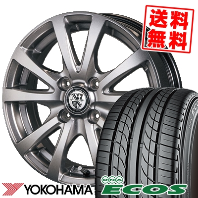 205/55R15 87V YOKOHAMA ヨコハマ DNA ECOS ES300 DNA エコス ES300 TRG-BAHN TRG バーン サマータイヤホイール4本セット