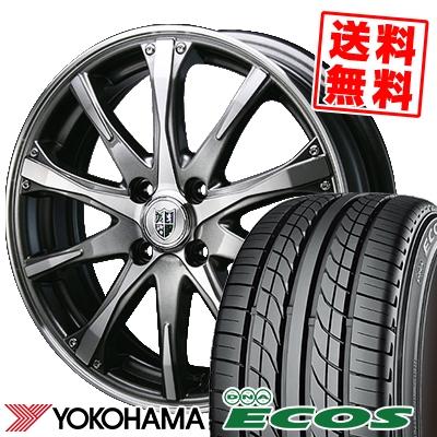 205/40R17 80W YOKOHAMA ヨコハマ DNA ECOS ES300 DNA エコス ES300 Bahnsport Type504 バーンシュポルト タイプ504 サマータイヤホイール4本セット