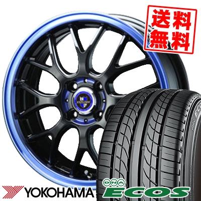 155/55R14 69V YOKOHAMA ヨコハマ DNA ECOS ES300 DNA エコス ES300 EXPLODE-RBM エクスプラウド RBM サマータイヤホイール4本セット