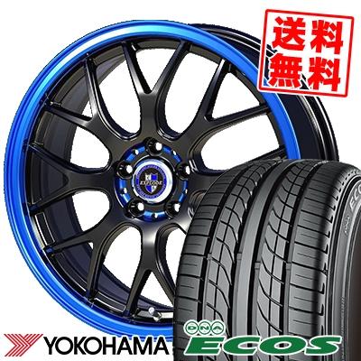 17インチ YOKOHAMA 気質アップ ヨコハマ DNA ECOS ES300 エコス 225 50 17 エクスプラウド RBM 特売 EXPLODE-RBM 50R17 取付対象 サマータイヤホイール4本セット 94V 225-50-17 サマーホイールセット