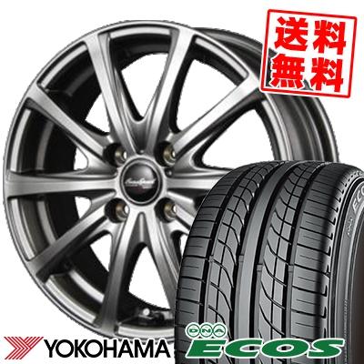 205/55R15 87V YOKOHAMA ヨコハマ DNA ECOS ES300 DNA エコス ES300 EuroSpeed V25 ユーロスピード V25 サマータイヤホイール4本セット