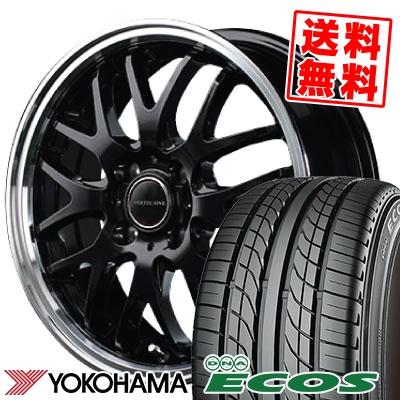 155/55R14 69V YOKOHAMA ヨコハマ DNA ECOS ES300 DNA エコス ES300 VERTEC ONE EXE10 ヴァーテックワン エグゼ10 サマータイヤホイール4本セット