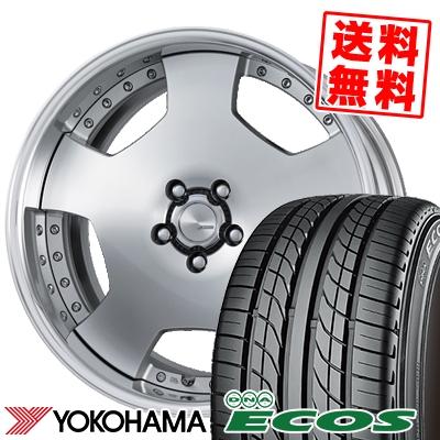 245/40R18 93W YOKOHAMA ヨコハマ DNA ECOS ES300 DNA エコス ES300 WORK LANVEC LD1 ワーク ランベック エルディーワン サマータイヤホイール4本セット