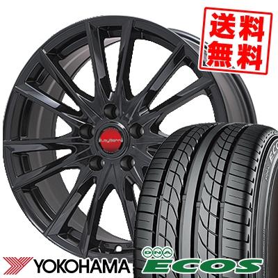 225/50R17 94V YOKOHAMA ヨコハマ DNA ECOS ES300 DNA エコス ES300 LeyBahn GBX レイバーン GBX サマータイヤホイール4本セット
