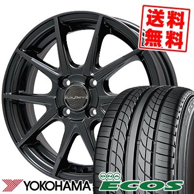 205/55R15 87V YOKOHAMA ヨコハマ DNA ECOS ES300 DNA エコス ES300 LeyBahn WGS レイバーン WGS サマータイヤホイール4本セット