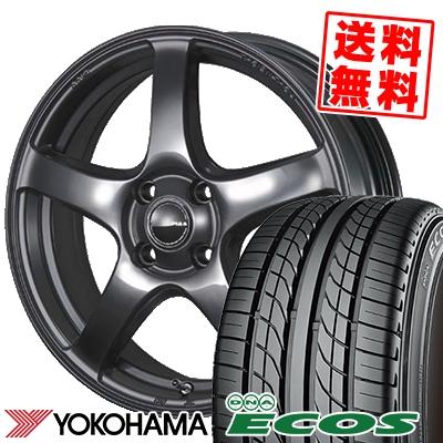 155/55R14 69V YOKOHAMA ヨコハマ DNA ECOS ES300 DNA エコス ES300 PIAA Eleganza S-01 PIAA エレガンツァ S-01 サマータイヤホイール4本セット