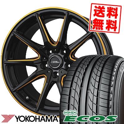 235/45R17 93W YOKOHAMA ヨコハマ DNA ECOS ES300 DNA エコス ES300 CROSS SPEED PREMIUM RS10 クロススピード プレミアム RS10 サマータイヤホイール4本セット