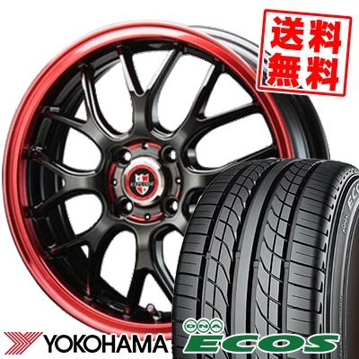 205/50R16 87V YOKOHAMA ヨコハマ DNA ECOS ES300 DNA エコス ES300 EXPLODE RBM エクスプラウド RBM サマータイヤホイール4本セット