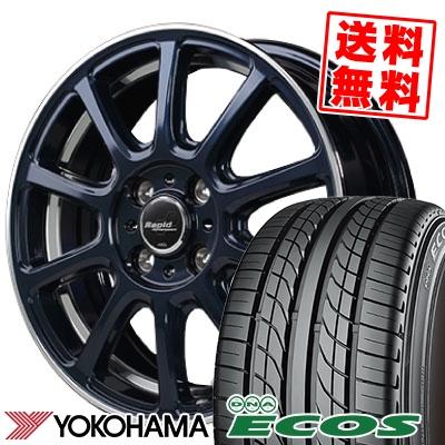 205/50R16 87V YOKOHAMA ヨコハマ DNA ECOS ES300 DNA エコス ES300 Rapid Performance ZX10 ラピッド パフォーマンス ZX10 サマータイヤホイール4本セット