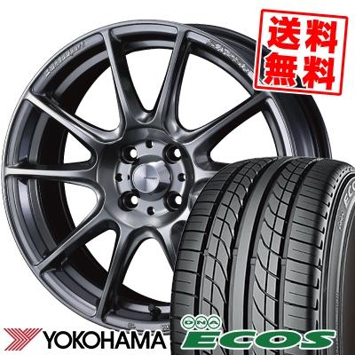 195/50R15 82V YOKOHAMA ヨコハマ DNA ECOS ES300 DNA エコス ES300 WedsSport SA-25R ウェッズスポーツ SA-25R サマータイヤホイール4本セット