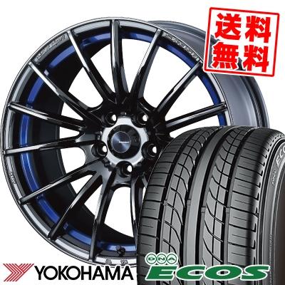 235/45R17 93W YOKOHAMA ヨコハマ DNA ECOS ES300 DNA エコス ES300 WedsSport SA-35R ウェッズスポーツ SA-35R サマータイヤホイール4本セット