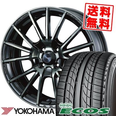 195/50R15 82V YOKOHAMA ヨコハマ DNA ECOS ES300 DNA エコス ES300 WedsSport SA-35R ウェッズスポーツ SA-35R サマータイヤホイール4本セット