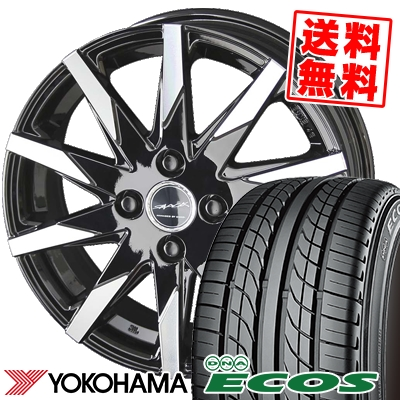 205/55R15 87V YOKOHAMA ヨコハマ DNA ECOS ES300 DNA エコス ES300 SMACK SFIDA スマック スフィーダ サマータイヤホイール4本セット