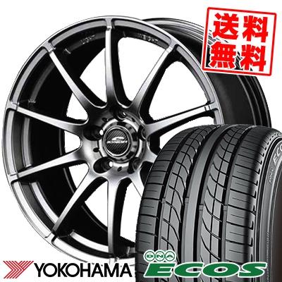 225/50R17 94V YOKOHAMA ヨコハマ DNA ECOS ES300 DNA エコス ES300 SCHNEDER StaG シュナイダー スタッグ サマータイヤホイール4本セット