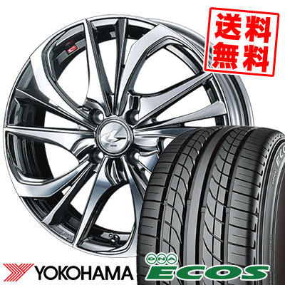 205/50R16 87V YOKOHAMA ヨコハマ DNA ECOS ES300 DNA エコス ES300 weds LEONIS TE ウェッズ レオニス TE サマータイヤホイール4本セット