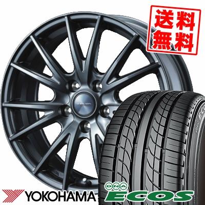 245/40R18 93W YOKOHAMA ヨコハマ DNA ECOS ES300 DNA エコス ES300 VELVA SPORT ヴェルヴァ スポルト サマータイヤホイール4本セット