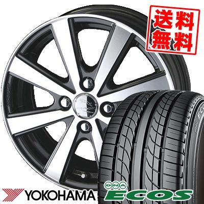 205/55R15 87V YOKOHAMA ヨコハマ DNA ECOS ES300 DNA エコス ES300 SMACK VIR スマック VI-R サマータイヤホイール4本セット