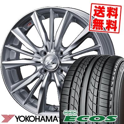 205/45R16 83W YOKOHAMA ヨコハマ DNA ECOS ES300 DNA エコス ES300 weds LEONIS VX ウエッズ レオニス VX サマータイヤホイール4本セット