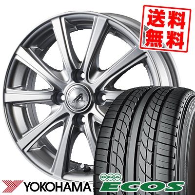 135/80R12 68S YOKOHAMA ヨコハマ DNA ECOS ES300 DNA エコス ES300 AZ sports YL-10 AZスポーツ YL-10 サマータイヤホイール4本セット