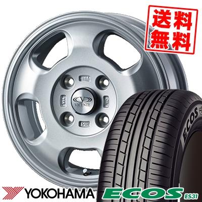 165/70R14 81S YOKOHAMA ヨコハマ ECOS ES31 エコス ES31 VICENTE-05 NV ヴィセンテ05 NV サマータイヤホイール4本セット