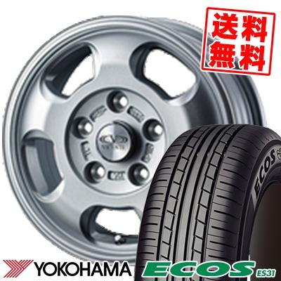 195/55R15 85V YOKOHAMA ヨコハマ ECOS ES31 エコス ES31 VICENTE-05 NV ヴィセンテ05 NV サマータイヤホイール4本セット