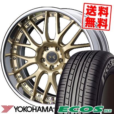 225/45R18 95W XL YOKOHAMA ヨコハマ ECOS ES31 エコス ES31 weds MAVERICK 709M ウエッズ マーベリック 709M サマータイヤホイール4本セット