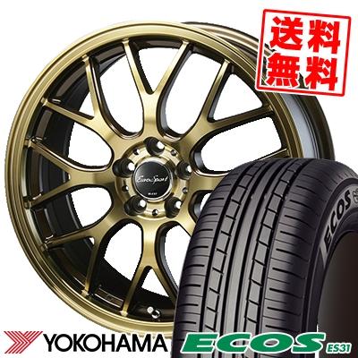 215/55R17 94V YOKOHAMA ヨコハマ ECOS ES31 エコス ES31 Eouro Sport Type 805 ユーロスポーツ タイプ805 サマータイヤホイール4本セット