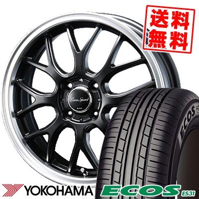 185/60R16 86H YOKOHAMA ヨコハマ ECOS ES31 エコス ES31 Eoro Sport Type 805 ユーロスポーツ タイプ805 サマータイヤホイール4本セット