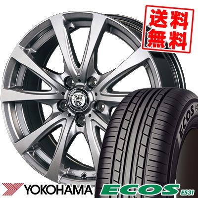 215/45R18 93W XL YOKOHAMA ヨコハマ ECOS ES31 エコス ES31 TRG-BAHN TRG バーン サマータイヤホイール4本セット
