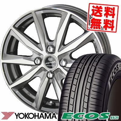 165/55R14 72V YOKOHAMA ヨコハマ ECOS ES31 エコス ES31 SMACK BASALT スマック バサルト サマータイヤホイール4本セット