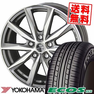 215/65R15 96S YOKOHAMA ヨコハマ ECOS ES31 エコス ES31 SMACK BASALT スマック バサルト サマータイヤホイール4本セット