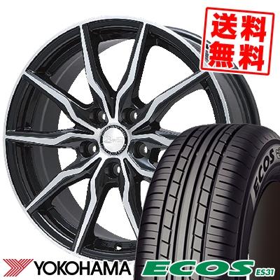205/60R16 92H YOKOHAMA ヨコハマ ECOS ES31 エコス ES31 B-win KRX B-win KRX サマータイヤホイール4本セット
