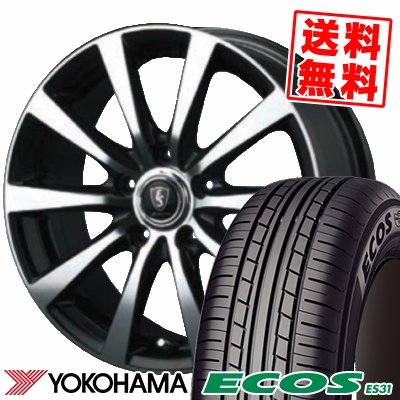 225/45R18 95W XL YOKOHAMA ヨコハマ ECOS ES31 エコス ES31 EUROSPEED BL10 ユーロスピード BL10 サマータイヤホイール4本セット