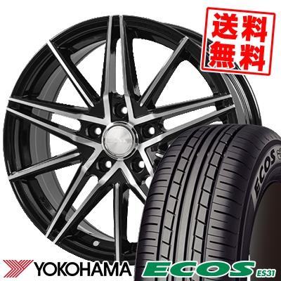 195/60R16 89H YOKOHAMA ヨコハマ ECOS ES31 エコス ES31 BLONKS TB01 ブロンクス TB01 サマータイヤホイール4本セット
