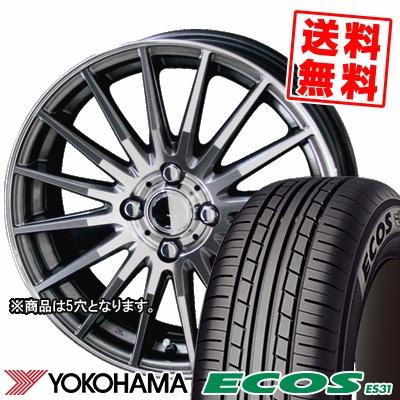 215/65R15 96S YOKOHAMA ヨコハマ ECOS ES31 エコス ES31 CIRCLAR VERSION DF サーキュラー バージョン DF サマータイヤホイール4本セット