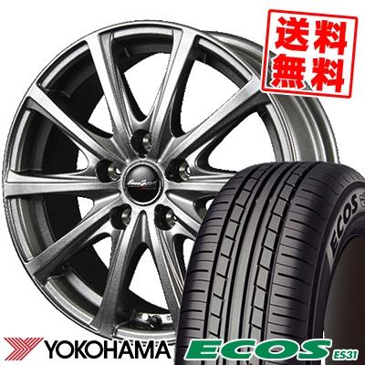 215/45R18 93W XL YOKOHAMA ヨコハマ ECOS ES31 エコス ES31 EuroSpeed V25 ユーロスピード V25 サマータイヤホイール4本セット