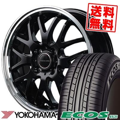 165/50R15 73V YOKOHAMA ヨコハマ ECOS ES31 エコス ES31 VERTEC ONE EXE10 ヴァーテックワン エグゼ10 サマータイヤホイール4本セット