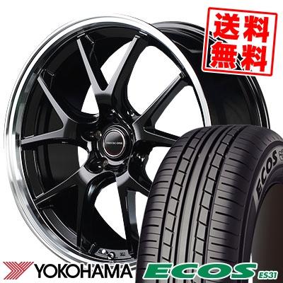 215/55R17 94V YOKOHAMA ヨコハマ ECOS ES31 エコス ES31 VERTEC ONE EXE5 ヴァーテックワン エグゼ5 サマータイヤホイール4本セット